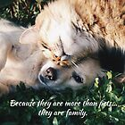Because they are more than pets, they are family. by Kamira Gayle