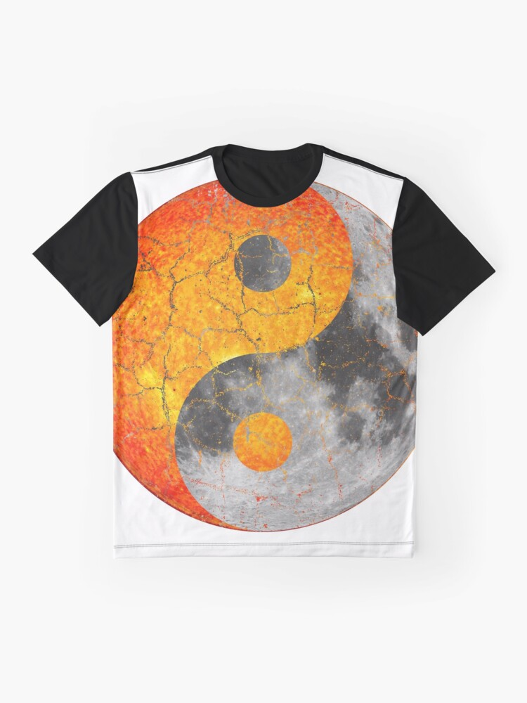 8ae43160 Alternate view of Sun and Moon Chinese Yin Yang Symbol Graphic T-Shirt