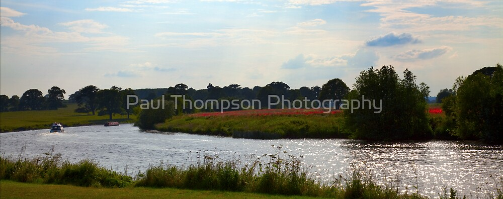 Poppies Over The Trent by Paul Thompson Photography