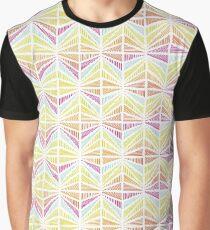 Bright Geometric Lines Pattern Graphic T-Shirt