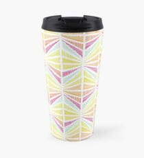 Bright Geometric Lines Pattern Travel Mug