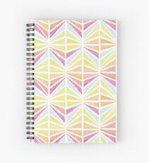 Bright Geometric Lines Pattern Spiral Notebook