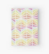 Bright Geometric Lines Pattern Hardcover Journal
