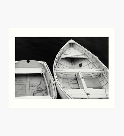 Two rowboats at Port Clyde Harbor, Maine Art Print