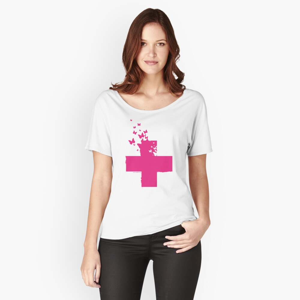 Rescue Pink /// Women's Relaxed Fit T-Shirt Front