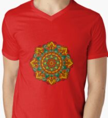 Mandala bloom Men's V-Neck T-Shirt