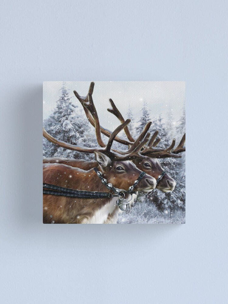 Alternate view of The Christmas Ride Canvas Print