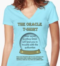 Postbox; The Oracle T-shirt Women's Fitted V-Neck T-Shirt