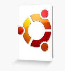 Ubuntu Logo Greeting Card