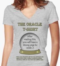 Smile; The Oracle T-shirt Women's Fitted V-Neck T-Shirt