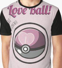 Retro Love Ball Graphic T-Shirt