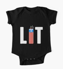 4th Of July Lit birthday One Piece - Short Sleeve