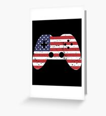 4th Of July T Shirt Gift Video Game america Greeting Card