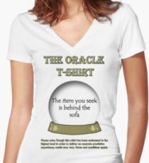 The Item You Seek; The Oracle T-shirt Women's Fitted V-Neck T-Shirt