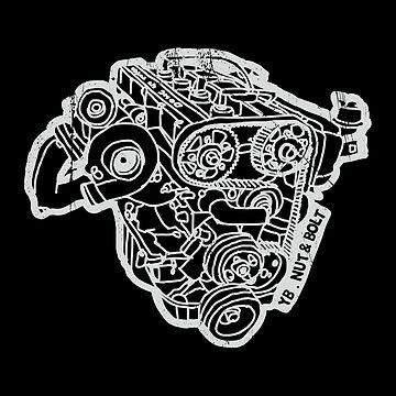 Ford Sierra Cosworth YB Turbo Engine by nutandbolt