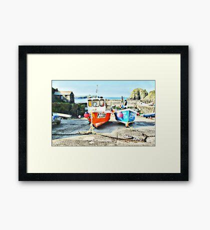 Mullion Harbour Framed Print