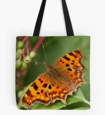 Berries and Comma Butterfly Tote Bag