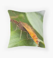 Front View Comma Butterfly Throw Pillow