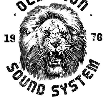 Old Lion Sound System (Blk) by BorleyB