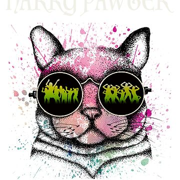 cat t-shirt | Harry Pawter Funny T-Shirt Cute Magic Cat With Glasses Gift for men and woman by alisalem