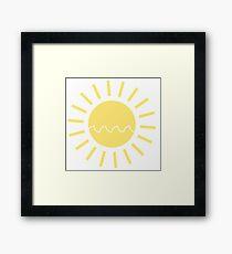 Sonne mit einer Welle Gerahmtes Wandbild