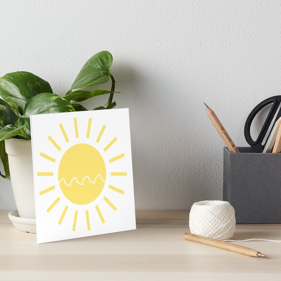 Sun with a Wave Art Board Print