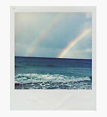 Lámina fotográfica Doble arco iris Polaroid