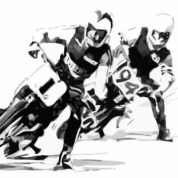 Retro Dirt Track Racers - Motorcycle by Kowalski71