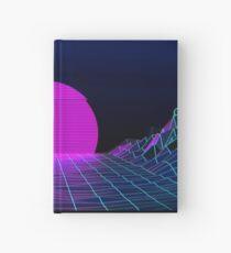 Achtzigerjahre retro Dampfwetter Sonnenuntergang Notizbuch