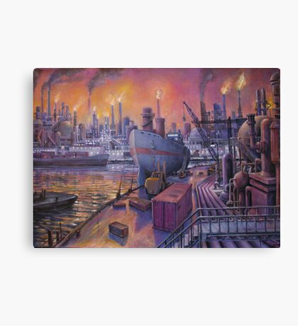 Waterfront Development Canvas Print