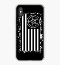 Drapeau américain satanique Coque et skin iPhone