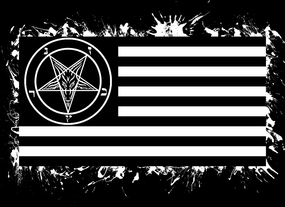 Satanic American Flag by heavypants