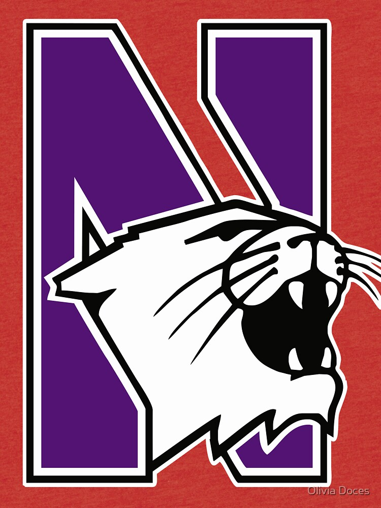 Northwestern Logo Tri Blend T Shirt By Doces19