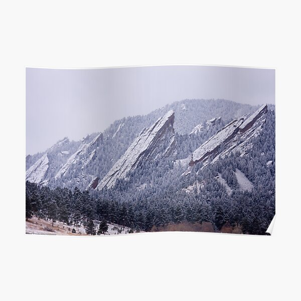 Snow Dusted Flatirons Poster