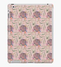 Peach pink seashell print iPad Case/Skin