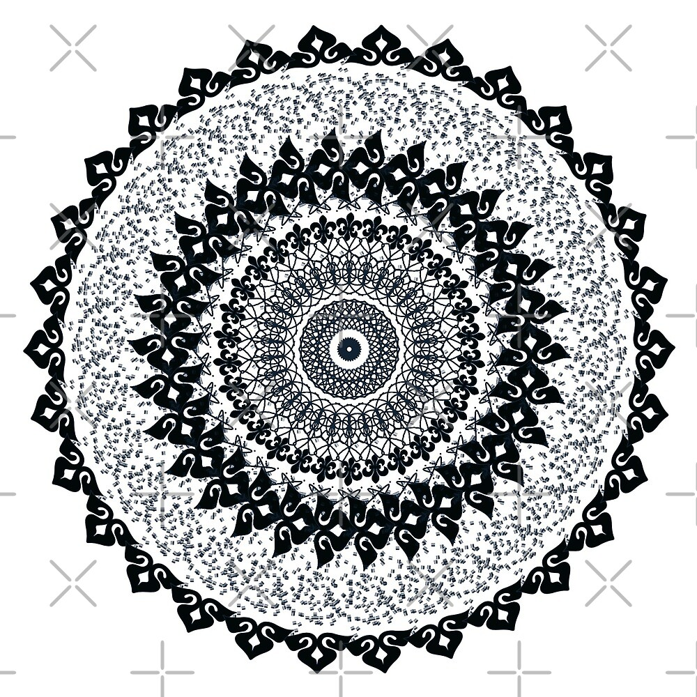 Mandala Black/White/Grey by MandalaFun