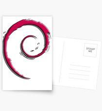 Debian Logo Postcards