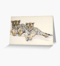 Tigercubs Greeting Card