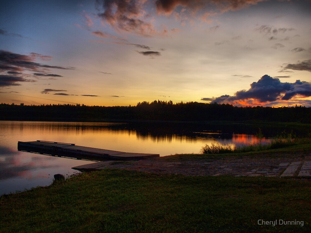 lakeside view by Cheryl Dunning