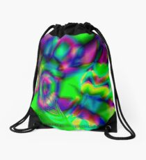 fuxart fractal one Drawstring Bag