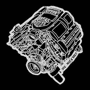 Ford Mustang Boss 302 V8 Engine by nutandbolt