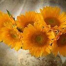 Textured Sunflowers by Colleen Drew