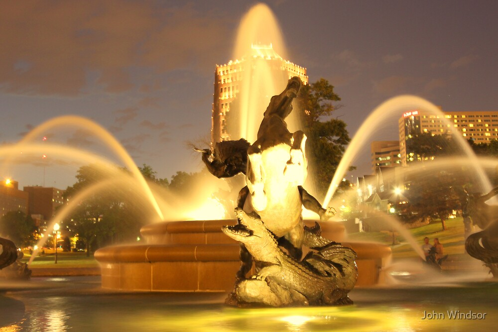 The Plaza Fountain Kansas City by John Windsor