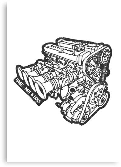 Toyota Ae86 Corolla Levin Sprinter Trueno 4age Engine Canvas Prints
