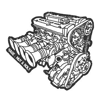 Honda Civic Type R Ep3 K20a Engine Photographic Print By Nutandbolt