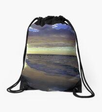 Busselton Beach on Square Drawstring Bag