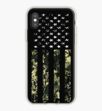 Camo American Flag iPhone Case