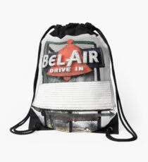 bel air drive-in, route 66, illinois Drawstring Bag