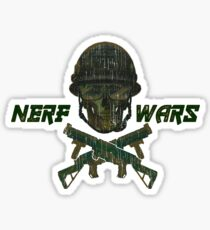 Nerf Wars Crossed Gun & Skull Sticker