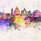 Bielefeld watercolor background by paulrommer